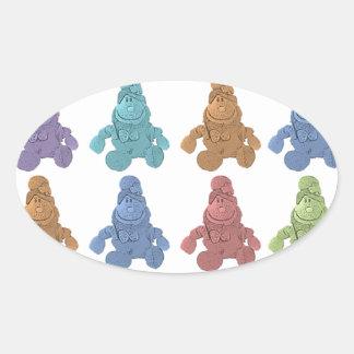 Pop Art Leprechaun Oval Sticker