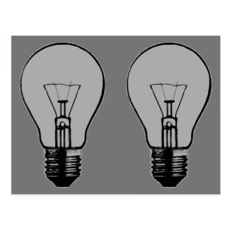 Pop Art Light Bulb Postcard