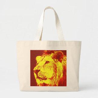 Pop Art Lion Jumbo Tote Bag