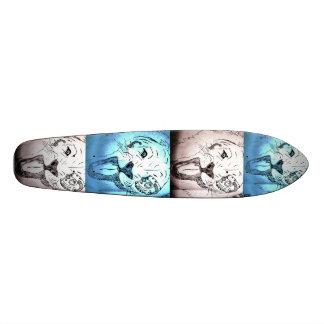 Pop art longboard skateboard