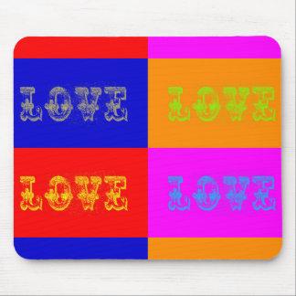 Pop Art Love Mouse Pad