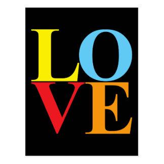 Pop Art LOVE Postcard