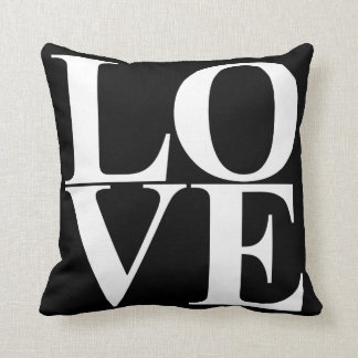 Pop Art Love Typography Cushion
