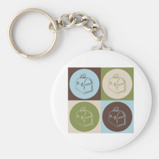 Pop Art Lunchboxes Basic Round Button Key Ring