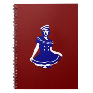 Pop Art - Maritime sexy Seemannsbraut Note Book