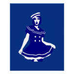 Pop Art - Maritime sexy Seemannsbraut Print