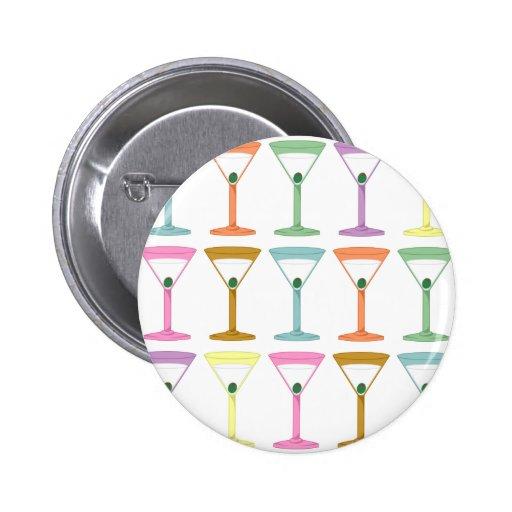Pop Art Martinis Pinback Buttons