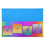 Pop Art MARTINIS PLACEMAT Cloth Placemat