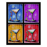 Pop Art Mermaid Martinis Print