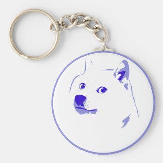 Pop Art/ minimal doge Basic Round Button Key Ring