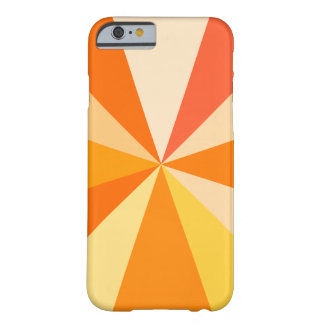 Pop Art Modern 60s Funky Geometric Rays in Orange Barely There iPhone 6 Case