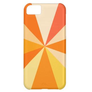Pop Art Modern 60s Funky Geometric Rays in Orange iPhone 5C Cover