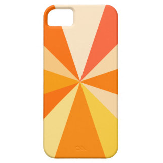 Pop Art Modern 60s Funky Geometric Rays in Orange iPhone 5 Cover