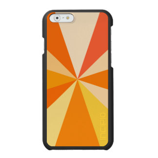 Pop Art Modern 60s Funky Geometric Rays in Orange Incipio Watson™ iPhone 6 Wallet Case