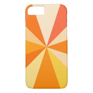 Pop Art Modern 60s Funky Geometric Rays in Orange iPhone 7 Case