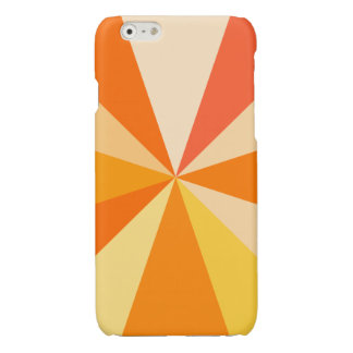 Pop Art Modern 60s Funky Geometric Rays in Orange Glossy iPhone 6 Case