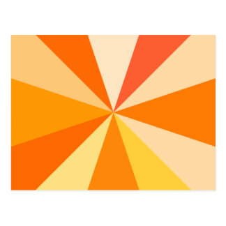 Pop Art Modern 60s Funky Geometric Rays in Orange Postcard