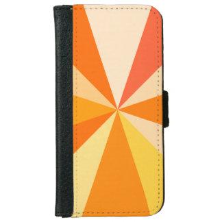 Pop Art Modern 60s Funky Geometric Rays in Orange iPhone 6 Wallet Case
