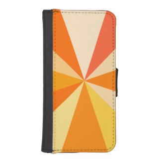 Pop Art Modern 60s Funky Geometric Rays in Orange Phone Wallet Cases