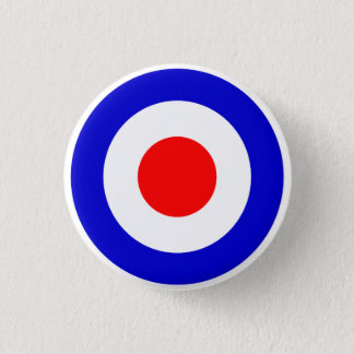 Pop Art Mods Target 3 Cm Round Badge