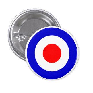 Pop Art Mods Target 3 Cm Round Badge