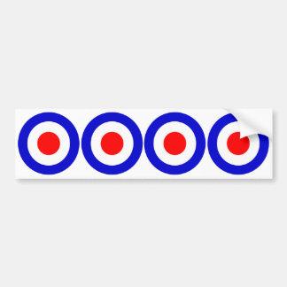 Pop Art Mods Target Bumper Sticker
