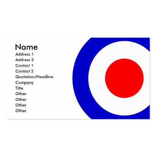 Pop Art Mods Target Business Cards