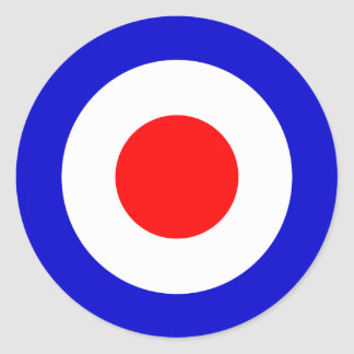 Pop Art Mods Target (pack of 6/20) Classic Round Sticker