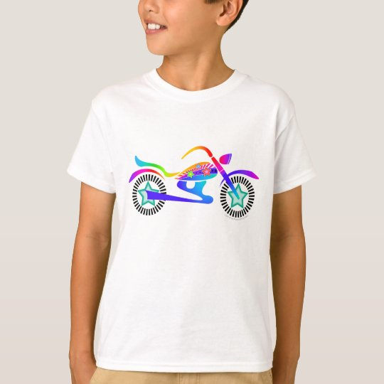 Pop Art MOTORCYCLE Kids Tee Shirt