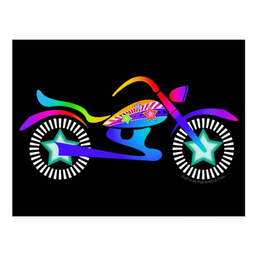 Pop Art MOTORCYCLE Postcard | Zazzle