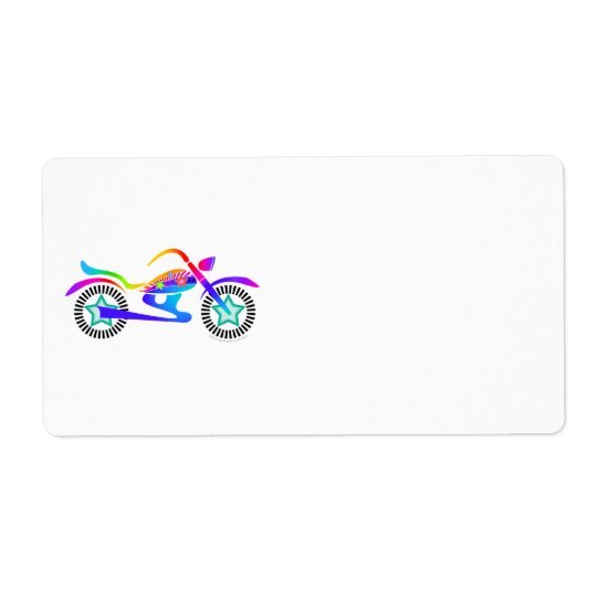 Pop Art MOTORCYCLE Return, Address or Shipping Ave Shipping Label