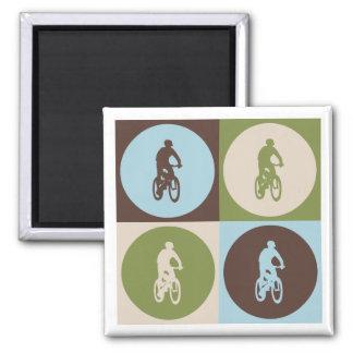 Pop Art Mountain Biking Refrigerator Magnets