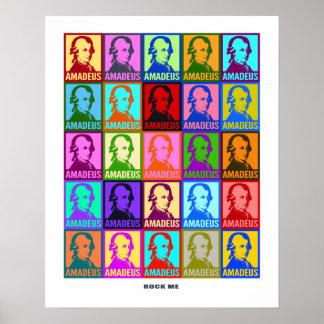 Pop Art Mozart | Rock Me Colorful Poster