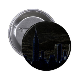 Pop Art New York City 6 Cm Round Badge