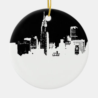 Pop Art New York City Ceramic Ornament