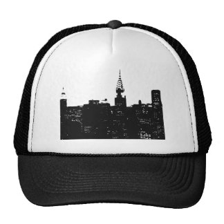 Pop Art New York Silhouette Hats