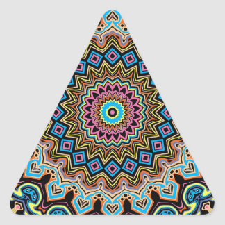 Pop Art No 2A Kaleidoscope Triangle Sticker