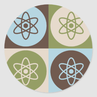 Pop Art Nuclear Physics Round Stickers