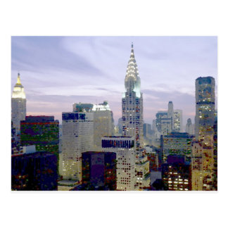 Pop Art Oil Paint Effect New York Postcard