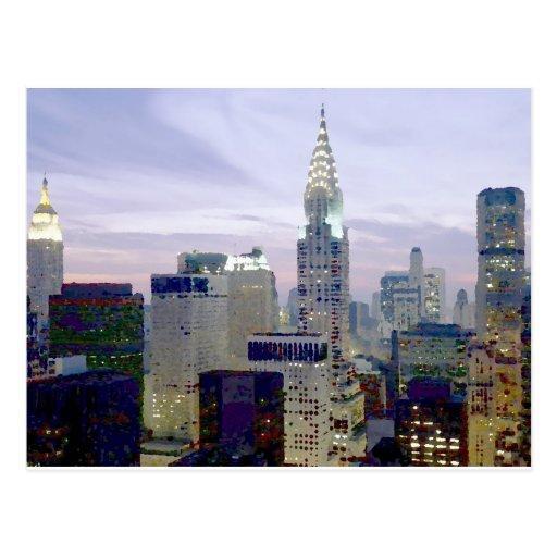 Pop Art Oil Paint Effect New York Postcard