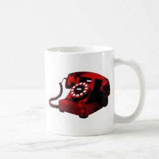 Pop Art Old Desk Telephone Box Coffee Mug
