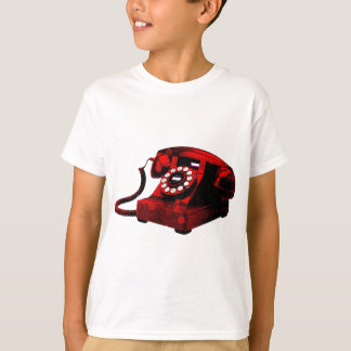 Pop Art Old Desk Telephone Box T-Shirt