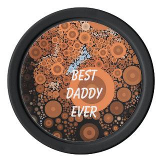 Pop Art Orange Circles Black Poker Chip Poker Chip Set