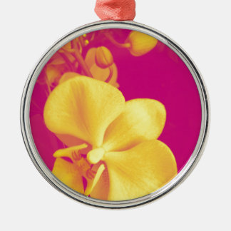 Pop art orchid christmas ornament