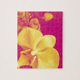 Pop art orchid jigsaw puzzle