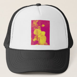 Pop art orchid trucker hat