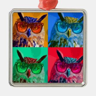 Pop art Owl Christmas Tree Ornaments