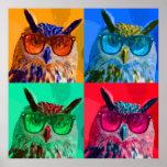 Pop art owl print