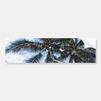 Pop Art Palm Tree Bumper Sticker