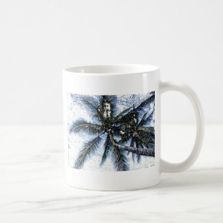 Pop Art Palm Tree Basic White Mug